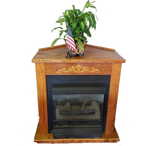 Buck Stove Classic Corner Mantel - For Models 329B, 384, and 34ZC - Fireplace Choice