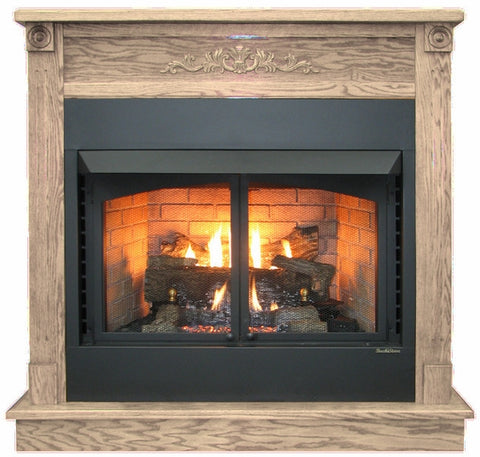 Buck Stove Deluxe Mantel - For Models 1110 and 1127 Gas Stoves - Fireplace Choice