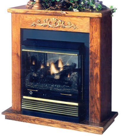 Buck Stove Mantel and Hearth Package For Model 32 Gas Stove - Fireplace Choice