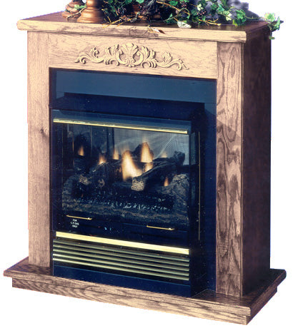 Image of Buck Stove Mantel and Hearth Package For Model 32 Gas Stove - Fireplace Choice