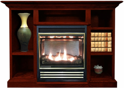 Buck Stove 1127 Vent Free Gas Stove with Prestige Mantel Combo - Natural Gas - Fireplace Choice