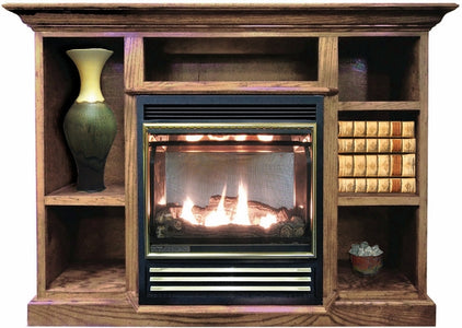 Buck Stove Prestige Bookcase Mantel For Models 1110 and 1127 Gas Stoves - Fireplace Choice