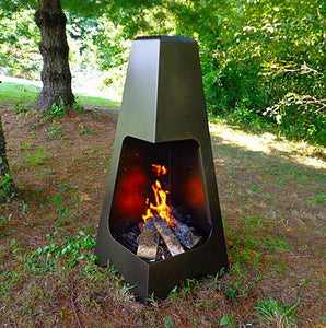 "Buck Stove 46"" Pyramid Wood Burning Chimenea - Bronze - Fireplace Choice"