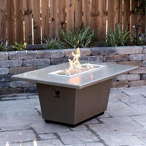 Image of American Fyre Designs Cosmopolitan Gas Firetable - Smoke Finish - Fireplace Choice