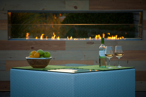 "Image of Firegear 36 "" Kalea Bay Outdoor Linear Fireplace - Fireplace Choice"