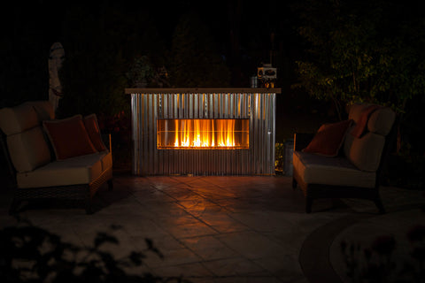 "Firegear 60"" Kalea Bay Outdoor Linear Fireplace - Fireplace Choice"