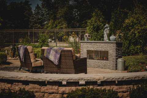 "Image of Firegear 60"" Kalea Bay Outdoor Linear Fireplace - Fireplace Choice"