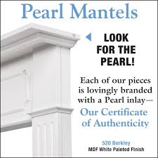Pearl Mantels 520-48 Berkley White MDF Fireplace Mantel - Fireplace Choice