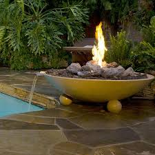 "Image of American Fyre Designs 40"" Versailles Gas Fire Bowl with Ball Feet - 742 Model - Fireplace Choice"