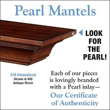 Pearl Mantels Homestead 418 Mantel Shelf - Antique Finish - Fireplace Choice