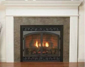 "Empire 48"" Profile Wooden Mantel with Standard Trim - Unfinished - Fireplace Choice"