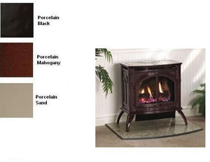 Empire Heritage Vent-Free Cast Iron Gas Stove with Porcelain Finish - Fireplace Choice