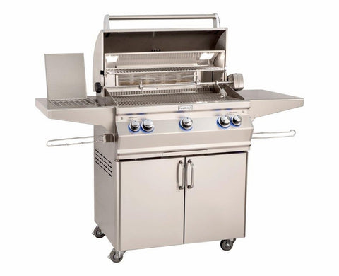 "Fire Magic Aurora 30"" Gas Grill With Side Burner And Analog Thermometer - A540S - Fireplace Choice"