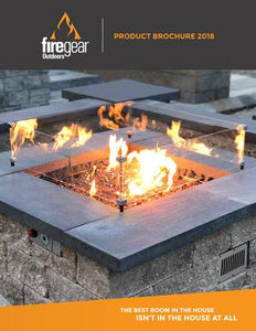 "Firegear Tempered Glass Windshield for 20"" Square Pan (GWS-2424) - Fireplace Choice"