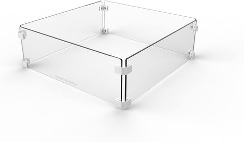 "Image of Firegear Tempered Glass Windshield for 20"" Square Pan (GWS-2424) - Fireplace Choice"