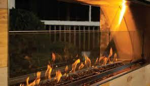 "Firegear Outdoors Glass Windshield For 30"" L Burners & 36"" Burner Systems (GWS-4410) - Fireplace Choice"