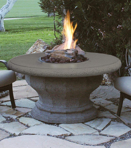 Image of American Fyre Designs Inverted Fire Table with Concrete Top - 629 Model - Fireplace Choice