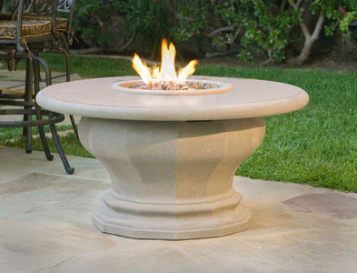 American Fyre Designs Inverted Fire Table with Concrete Top - Fireplace Choice