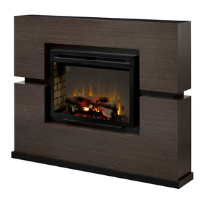 Linwood Grey Rift Electric Fireplace Mantel Package  - GDS33HL-1310RG - Fireplace Choice