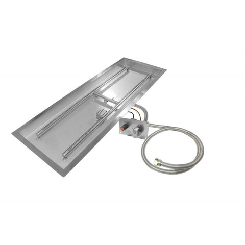 "Image of Firegear 48"" Linear Fire Pit Assemble and Finish Enclosure (ANFL48) - Fireplace Choice"