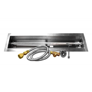 "Firegear 48"" Linear Fire Pit Assemble and Finish Enclosure (ANFL48) - Fireplace Choice"