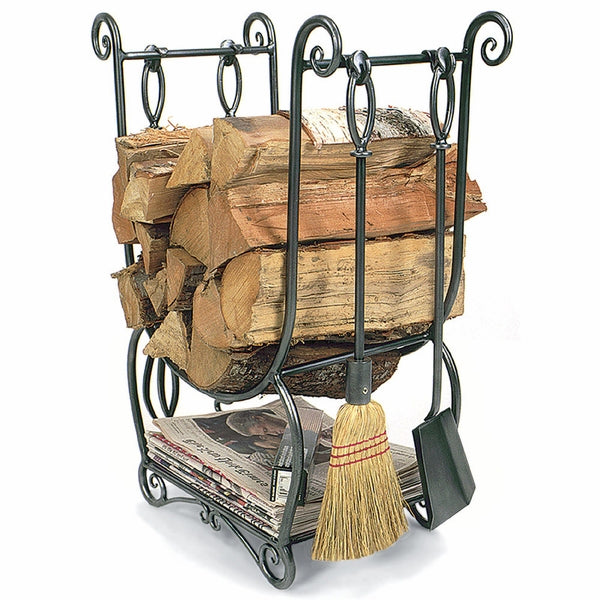 Minuteman LCR-07 Country Wood Holder w/ Tools - Graphite - Fireplace Choice