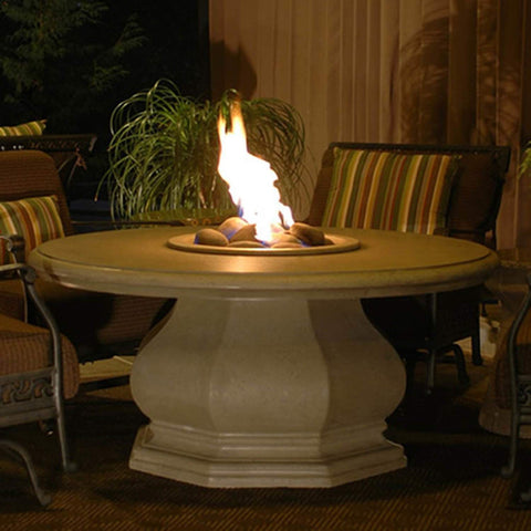 Chat Height Octagon Firetable With Concrete Top - 626 Model - Fireplace Choice