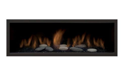 Sierra Flame 55L Clean Face Black Surround with Safety Barrier - Fireplace Choice