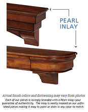 Pearl Mantels 490 Lindon Mantel Shelf - Cherry Distressed Finish - Fireplace Choice
