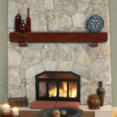 Image of Pearl Mantels 412 Shenandoah Fireplace Mantel Shelf - Fireplace Choice