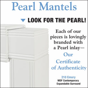 Pearl Mantel Emory 201 Adjustable Mantel Surround - Fireplace Choice