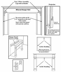 Pearl Mantels 110 Williamsburg Fireplace Mantel - Fireplace Choice