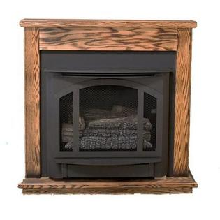 Buck Stove Standard Mantel for Model T-33 in Dark Oak - PA KDM33 - Fireplace Choice