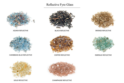 Image of American Fyre Designs Contractor's Model Gas Fire Pit - Reflective Fyre Glass Media Options