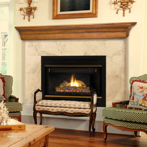 Pearls Mantels 490 Lindon Fireplace Mantel Shelf - Unfinished - Fireplace Choice