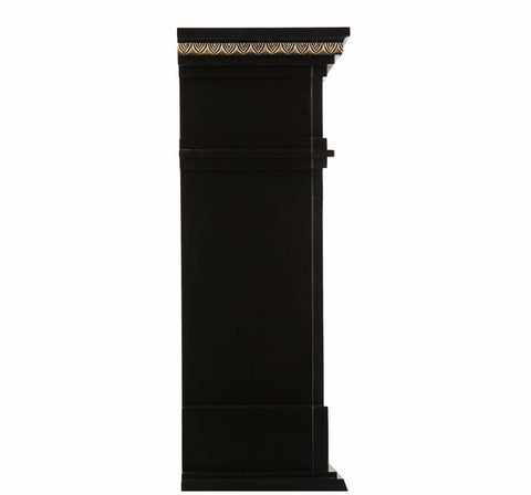 Image of SEI Donovan Electric Fireplace - Black and Gold - Fireplace Choice