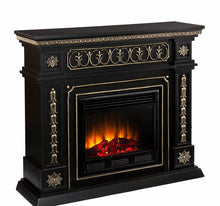 SEI Donovan Electric Fireplace - Black and Gold