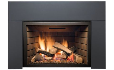 "Image of Sierra Flame Direct Vent Deluxe Abbot 30"" Insert with Black Porcelain Panels - Fireplace Choice"