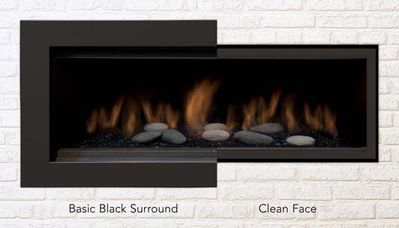 Sierra Flame Basic Trim with Safety Barrier for Austin 65L Series Fireplaces - Fireplace Choice