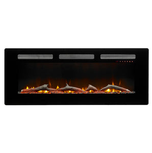 "Dimplex Sierra 48"" Wall Mount Electric Fireplace - SIL48 - Fireplace Choice"