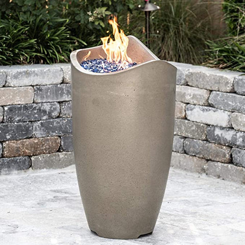"American Fyre Designs Wave 20"" Gas Fire Urn - Fireplace Choice"