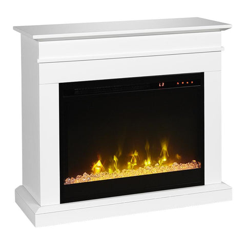 "Jasmine 23"" Electric Fireplace & White Mantel Package - C3P23C9-2067W - Fireplace Choice"