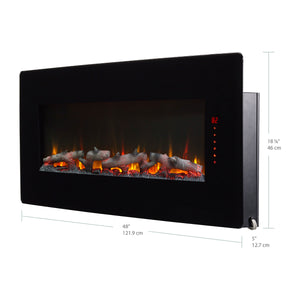 "Winslow 48"" Wall Mount Electric Fireplace - SWM4820 - Fireplace Choice"