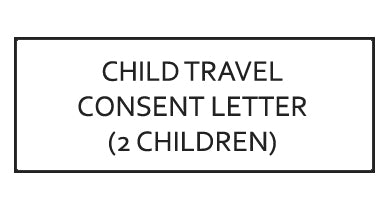 Child Travel Consent Letter (for Children Travelling Abroad) - 2 Children (Canada)