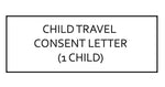 Child Travel Consent Letter (for Children Travelling Abroad) - 1 Child (Canada)