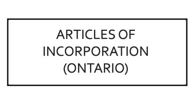 Articles of Incorporation (Ontario Provincial Incorporation)