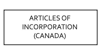 Articles of Incorporation (Federal Incorporation)(Canada)
