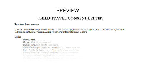 child travel consent letter for children travelling abroad 1 child canada