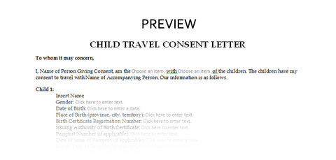 child travel consent letter for children travelling abroad 2 children canada