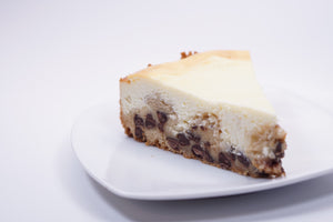 Chocolate Chip Cookie Dough Cheesecake - Slice